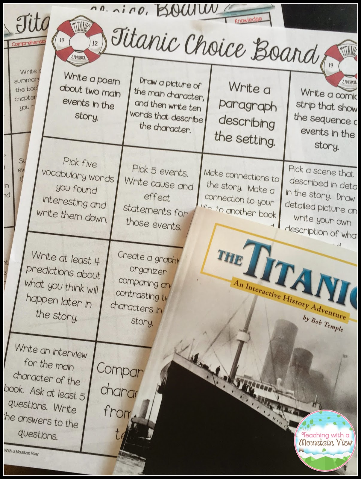 THE TITANIC. WRITING A REPORT AND I NEED A LITTLE HELP!?